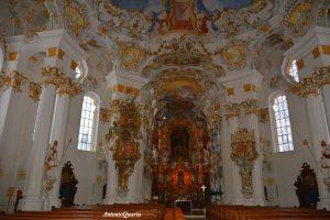 Wieskirche, il pregevole interno