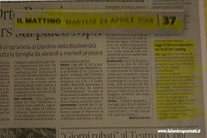"""Padova, articolo del """"Mattino"""""""