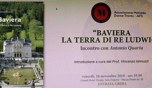 Trento, nuova conferenza-presentazione 16 novembre 2018