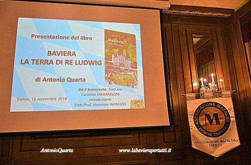 Trento, presentazione-conferenza del 16 novembre 2018